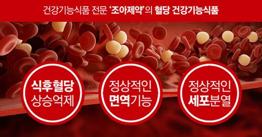 식후 혈당상승 억제! 혈당수치 30% 감소 확인, 조아제약 '닥터-G'
